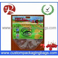 Clear Plastic Fruit Packaging Slider Zipper Bags , Apple / Grape Bag