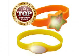 China Party Led Bracelet Silicone Wrist Bands For Nightclub / Running At Night on sale