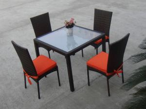 China Rattan Garden Dining Sets , Wicker Outdoor Furniture Dining Sets on sale