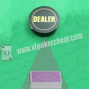 China Dealer Button Poker Scanner For Barcode Marked Playing Cards With UV Ink on sale