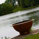 Garden Portable Courtyard Metal Steel Bowl Corten Fire Pits