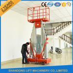 China 200kg Capacity 12m Height Hydraulic Aluminium Ladder Aerial Work Platform Lift With CE wholesale