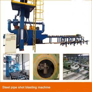China Roller Conveyor Steel Pipe Sand Blasting Machine / Pipeline Cleaning Equipment on sale