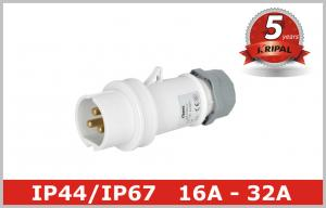 China Indoor 3 Pole Low Voltage Plugs And Sockets 40V 50V ,  IEC309 standard on sale