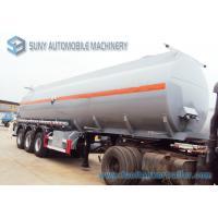 Hydrochloric Acid FUWA 13 Ton Fuel Tanker Trailer Three Axle Trailers 32000L