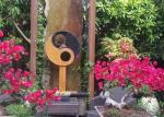 Antique Corten Steel Garden Sculpture Abstract For Outdoor Decoration