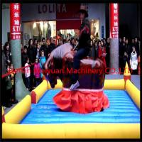 CE certificated customized Mechanical PVC0.55 Inflatable Rodeo Bull Ride Game Machine For Adults