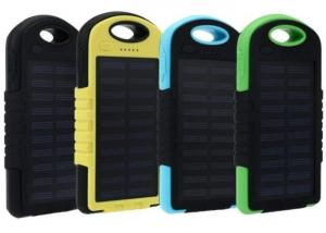 China Solar Power Bank 5000mah Extreme Mobile Phone Battery Charger Pack Dual USB LED with Climbing Hook on sale
