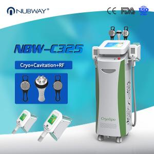 China 5 handles Cryolipolysis+Cavitation+RF Multifunction Machine(you can do the whole body slimming and body rejuvenation) on sale