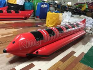 China Red Colour Inflatable Fly Fishing Boats With 0.9mm PVC Inflatable Fishing Pontoon Boats on sale