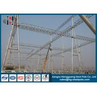 230KV Electrical Power Substation Steel Structures with Hot Dip Galvanization