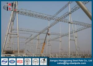 China 230KV Electrical Power Substation Steel Structures With Hot Dip Galvanization on sale