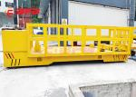 1-500 tons Production Line Transfer Electric Powered Trolley Cart , Steeable Battery Powered Cart With Safety Device