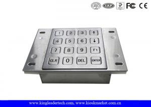 China Vending Machine Dust Proof Numeric Key Pad Metal With USB Interface on sale