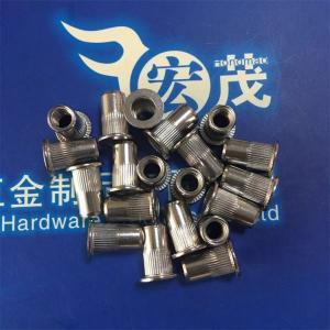 China Stainless Steel Flat Head Knurled Rivet Nuts blind rivet nut pop nut pem nut on sale