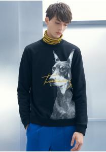 China 2019 Men's New Latest Design Fleece Sweatshirt with Dog Printed & Emboridery on sale