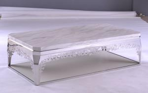 China Luxury Rococo Style Long Modern Square Coffee Tables and Tea Tables with MDF Board on sale