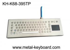 China Water-proof desktop industrial 67 keys PC-keyboard layout with touchpad and 3 mouse buttons on sale