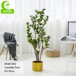 150cm Durable Artificial Ficus Tree . Artificial Camellia Tree With White Flower