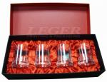 Custom Rigid Boxes For Glasses Products Packaging With Silk Fabric Wrapped Foam Insert