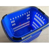 China Virgin PP Rolling Shopping Basket With Wheels  /  Store Trolley Shopping Basket on sale