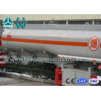 China Triple Axle Chemical Aluminum Tanker Trailer With Emergency Valve 42M3 on sale