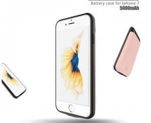 China Data transfer 5000mAh Power Bank Phone Case For iPhone 7 Battery Charger Case on sale