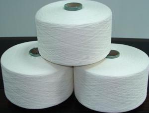 China Ne 16/1 100% Cotton Combed Yarn/100% cotton yarn for fabric/100%cotton fiber yarn on sale