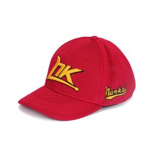 China Adults Red 6 Panel Baseball Cap, Embroidered Snapback Baseball Caps With Hole on sale