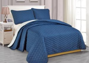 Quality 100% Polyester Microfiber Ultrasonic Bed Spread Sets 55gsm-140gsm for sale