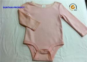 China New Styling Cute Baby Girl Rompers , 100% Cotton Baby Girl Long Sleeve Onesies on sale