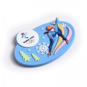 China Creative Cartoon Silica Gel Promotional Fridge Magnets 40*70mm on sale