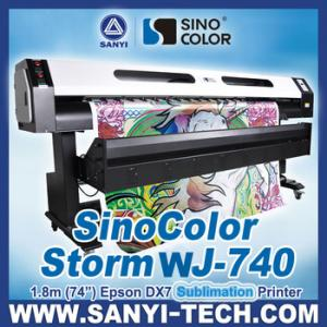 China imprimante de sublimation de 1.8m Sinocolor WJ740, avec la tête d'Epson DX7 on sale