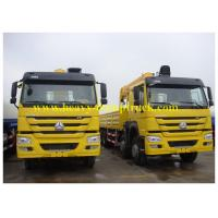 China Truck Mounted Mobile Crane Sinotruk HOWO 6X4 10 tons with HW76 cabin on sale