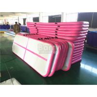 Durable Soft Pink Inflatable Air Track Gymnastics Mat / Floating Water Mat