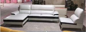China Contemporary Leather Sectional Sofa / Leather Reclining Sectional With Chaise Lounge on sale