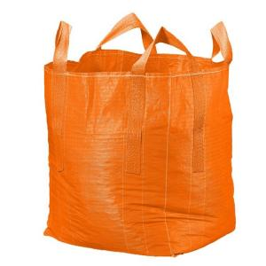 China Orange Flat Bottom Super Sack Bag Filling Spout Top / Full Open Top Available on sale