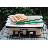 China Table Top Japanese Mini Ceramic Grill , Rectangle Outdoor Charcoal BBQ Grill on sale