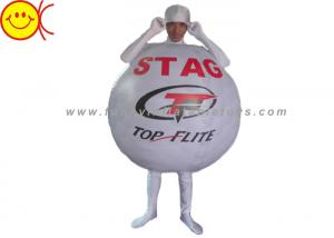 China Custom Light Sport Clothes Advertising Costumes Inflatable Golf Ball Costume For Adult on sale