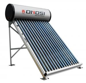 China Compact non-pressure color steel solar water heater on sale