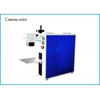 China Long Lifetime Portable 20W  Electric Fiber Co2 Laser CNC Marking Machine With Metal on sale