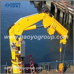 China 1ton Hydraulic Marine Knuckle Boom Ship Deck Crane for Provision on sale