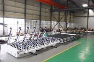 China Industrial Glass Cutting Machine , Second Hand Glass Machinery With Italy Optima Software on sale