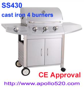 China 3 Burners Gas BBQ Grill Plus Side Burner on sale