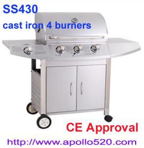 China Freestanding 3 Burner Gas Barbecue with side burner on sale