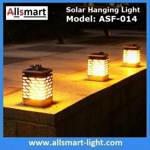 China 75LED Solar Lights Outdoor LED Flickering Flame Torch Light Solar Powered Lantern Hanging Decorative Pathway Garden Lamp on sale