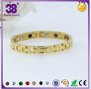 China 2016 bracelet pendant magnétique d'acier inoxydable des bijoux 316L d'or de mode on sale