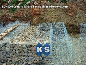 China Hexagonal Wire Mesh Double Twisted Gabion Wall Baskets With ASTM A975-97 Standard on sale