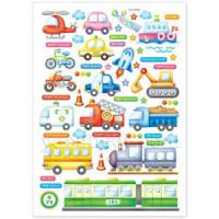 Hand-made DIY Various Car Childrens Wall Stickers 8384