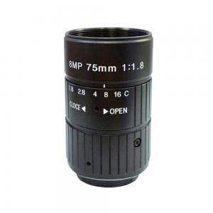 China HD 8MP 75mm CCTV Camera C Mount Lens Manual Iris Manual Focus F1.8 Aperture 1 Image Format Industrial Camera Lens on sale